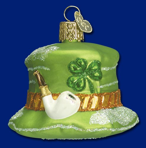 Irish christmas ornaments in blown glass
