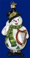 Irish Snowman with Harp